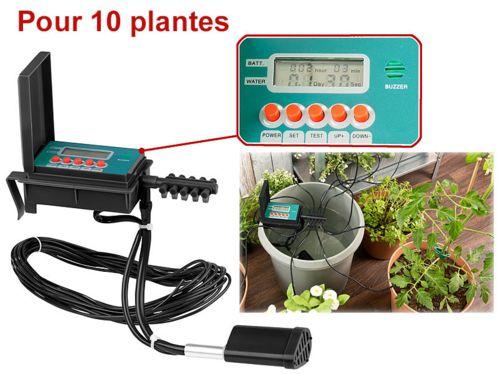 Partez l'esprit libre en vacances en sachant que vos plantes d'intérieurs seront bien arrosées avec ce système d'irrigation automatique avec pompe intégrée.