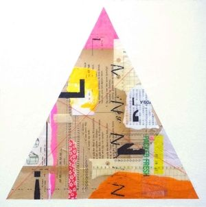 L (Triangle), Shelley Kommers, 2015 #mixedmedia #collage