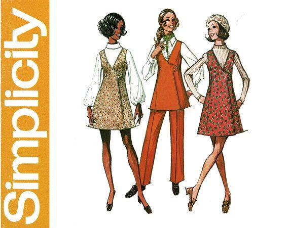 Semplicità 8915 la semplicità Pattern Co., Inc 1970 © Vintage Misses cartamodello 8 (busto 31.5) 12 (busto 34) mini-ponticello o tunica e pantaloni: