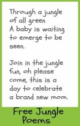 free printable jungle baby shower poems