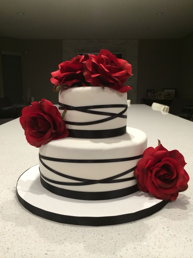 Rose Anniversay Cake