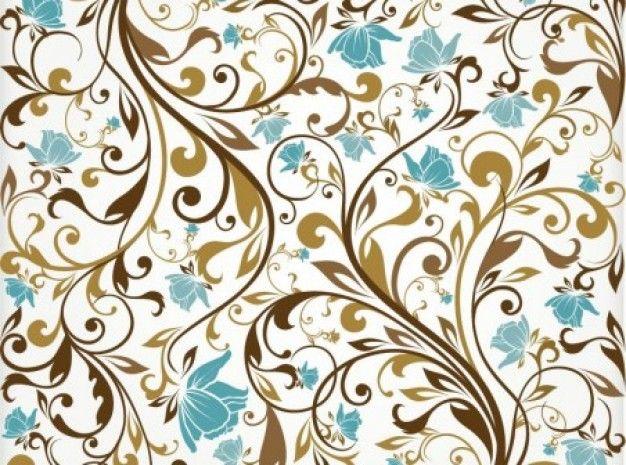 коричневые украшения с бирюзовый фон цветы
