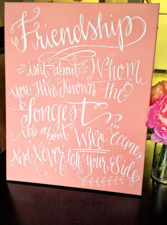 Calligraphy canvas friendship