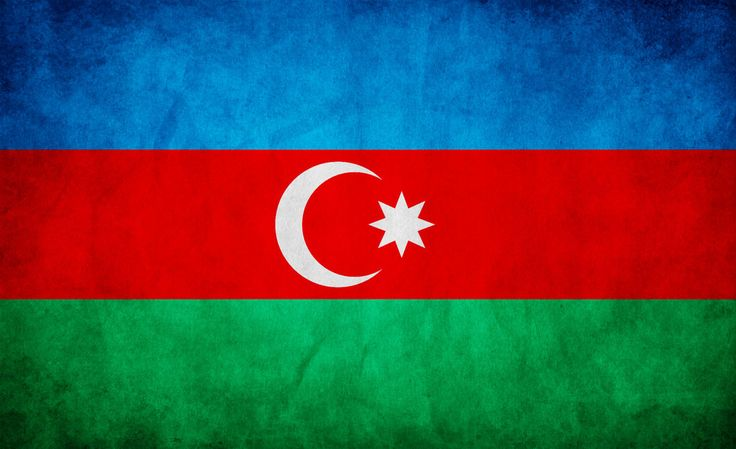 Azerbaijan's national flag is comprised of three equally sized stripes of color.  The blue symbolizes the nation's Turkic heritage, the red stands for progress, and the green represents Islam.  This flag was officially adopted on February 5, 1991, following the fall of the Soviet Union and Azerbaijan's independence.