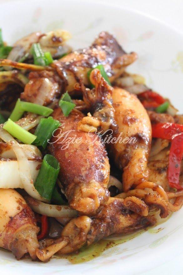 Azie Kitchen: Sotong Goreng Kicap Mudah dan Sedap