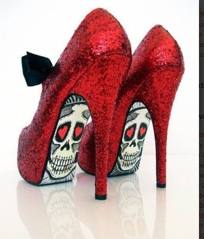 The Red Skull Candy Shoes! Art at it's finest!