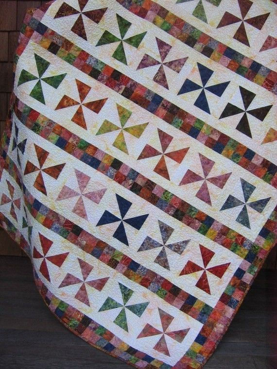 ON SALE Janie's Scrap Basket Quilt Pattern Lap Quilt by sweetjane