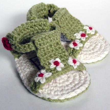Botón de zapatos sandalias bebé Daisy Gladiator Sandal correa ajustable  guisante verde salvia flor crema crema niño niña Pascua verano primavera sol