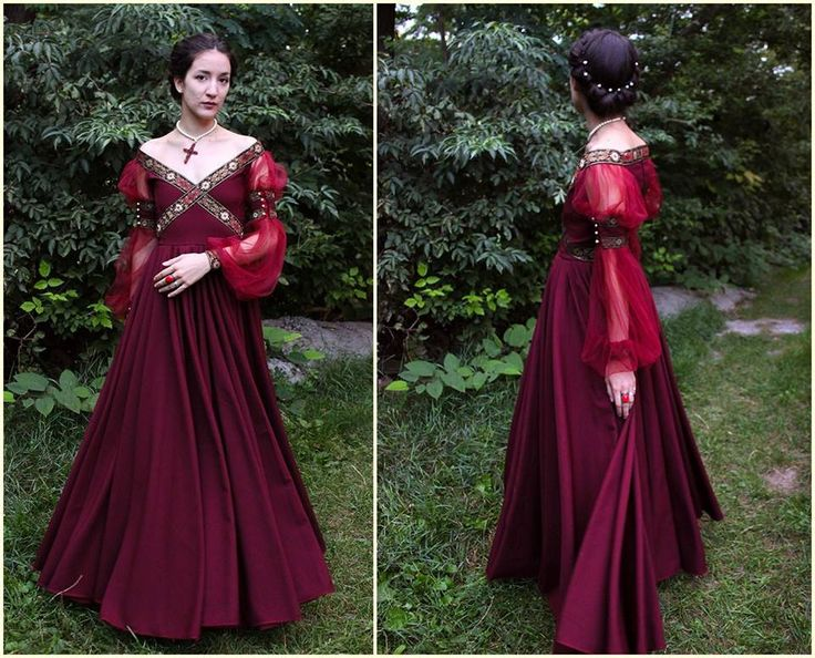 Renaissance Dress Historical Costume Italian by MariaHellerDesigns