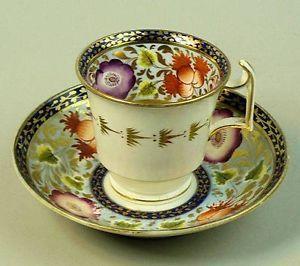 ANTIQUE SPODE PORCELAIN CABINET CUP & SAUCER C.1825: