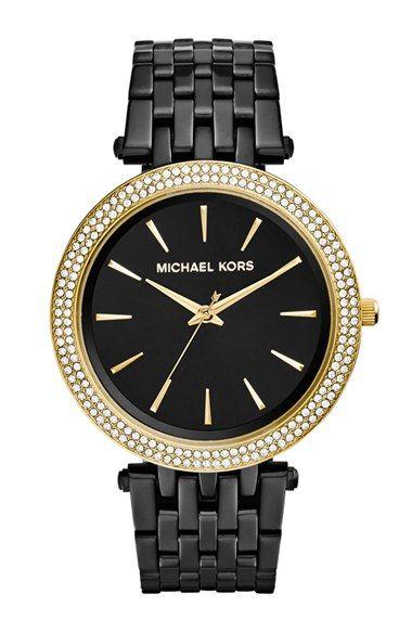 MICHAEL Michael Kors Michael Kors 'Darci' Crystal Bezel Bracelet Watch, 39mm (Nordstrom Exclusive) available at #Nordstrom