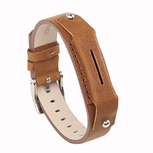"Wearlizer Band for fitbiit flex 2, Vintage Genuine Leather Wristband Accessories for Fitbit Flex 2 - Light Brown. Compatible for Fitbit Flex 2 Tracker; Fits 6"" - 8"" wrist size. Buckle design and easy to adjust the size. Fitbit flex 2 tracker not included. Trusted Craftsmanship: Strap is comprised of a polished, injection molded stainless steel buckle, genuine, minimally treated leather, and durable linen stitching, guarantee you a great wearing experience when doing sport, working or outdoor…"