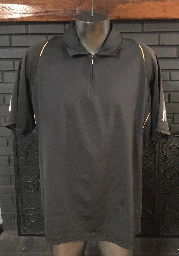 Adidas Climacool Black Orange Polo Shirt Men's Size XL #adidas #PoloRugby