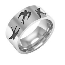 Swallow Ring, Swallow Silver Band Ring,Nature ring,bird ring,swallow jewelry