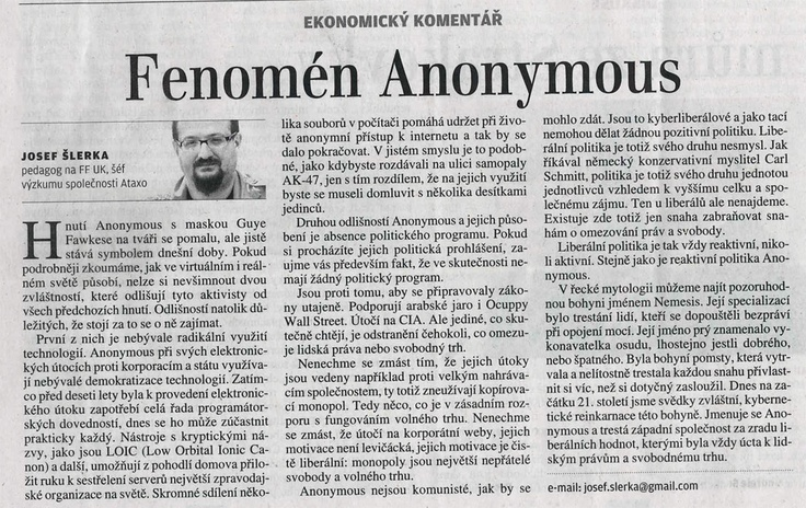 Anonymous reading