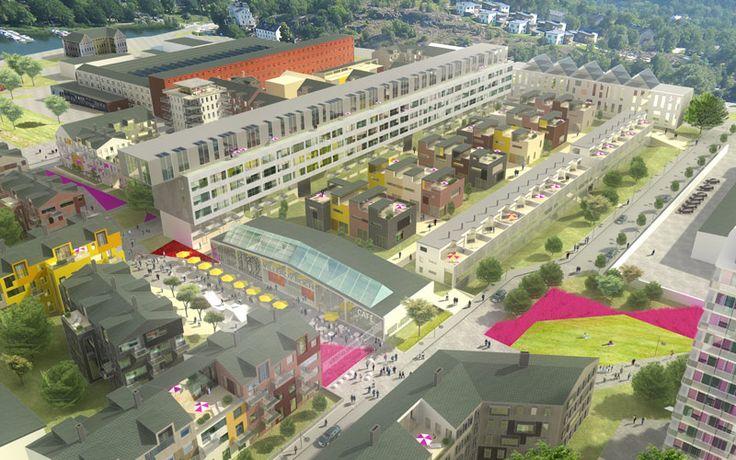 New area in Gustavsberg - offices and residential - Scheiwiller Svensson Arkitektkontor. www.ssark.se