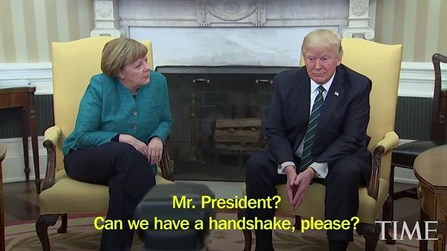 Το Κουτσαβάκι: Ο Trump είπε, γιατί να δεν  έσφιξε το χέρι με την ...