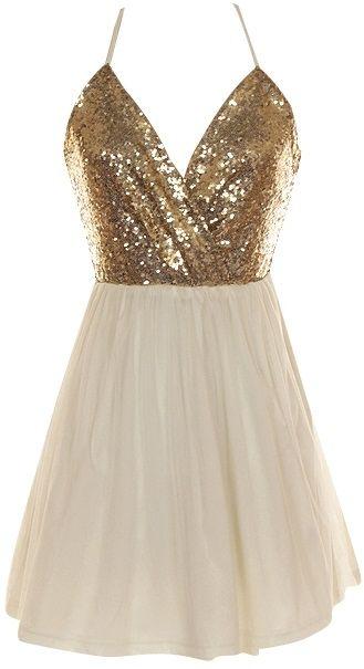 Crossback Sequin Dress