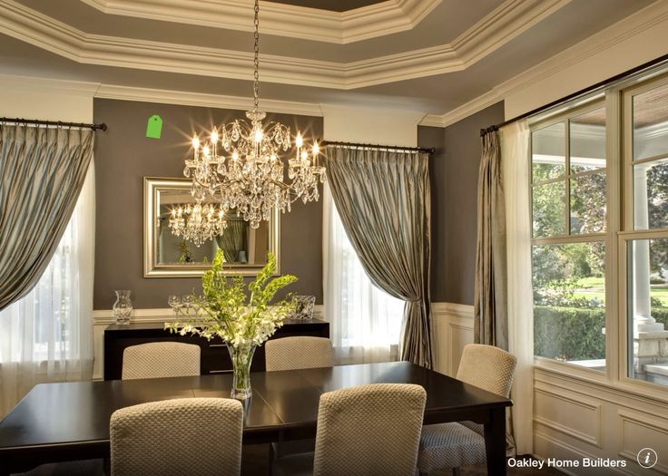 Traditional Dining Room   Love The Tray Ceiling And The Chandelier