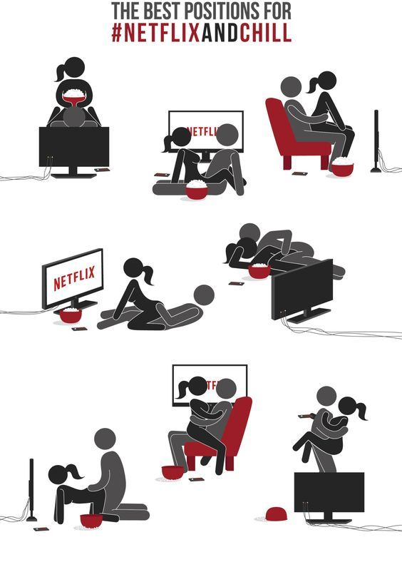 Pinterest : @mazlyons Making memories with netflix.. haha!! Best positions for Netflix and chill.: