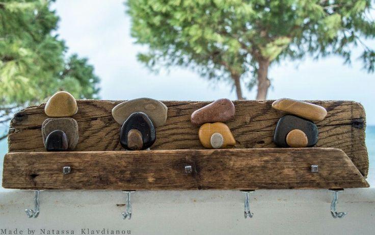 Κρεμάστρα με φυσικά υλικά από την θάλασσα.  Θάλασσα και Φαντασία - Νατάσσα Κλαυδιανού