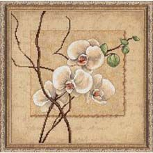 Oriental Orchids - Counted Cross Stitch kit; Herrschners{dot}com