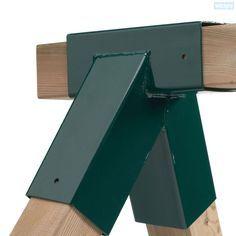Schaukel Verbinder 90/90mm. Bauen Sie sich Ihre eigene Schaukel im Selbstbau. Einfach 2 dieser Schaukelverbinder und 5 Pfosten und die Schaukel ist fertig.