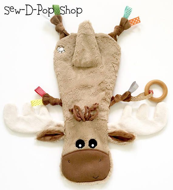Moose Baby Small Woodland Blanket Lovey Sensory Teether