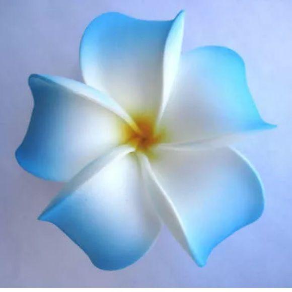 2 For 6 Blue Plumeria Flower Hair Clip Hawiian Flowers Plumeria Flowers Plumeria Tattoo