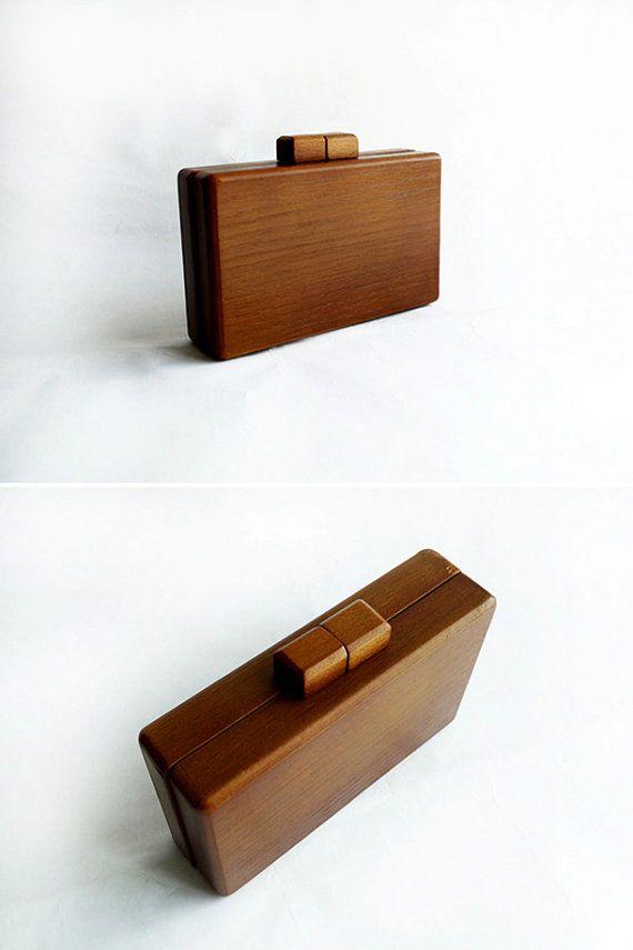 Vintage Clutch bag wood by IOVintage on Etsy, $799.00