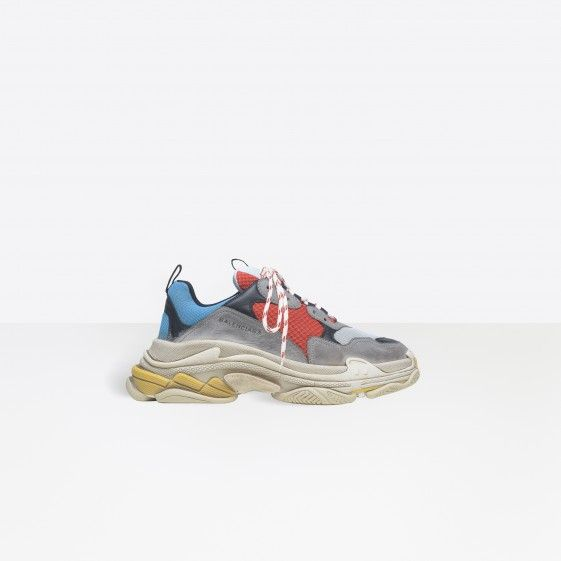 Shop Balenciaga Multimaterial Trainers With Quilted Effect Silver/black Men in Balenciaga Sale online with Balenciaga Sneakers Sale and Cheap Balenciaga #fashion #lifestyle #shoes #sneakers #spring #ss18