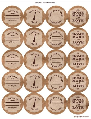 Brown Kraft Paper Canning Labels                                                                                                                                                                                 More