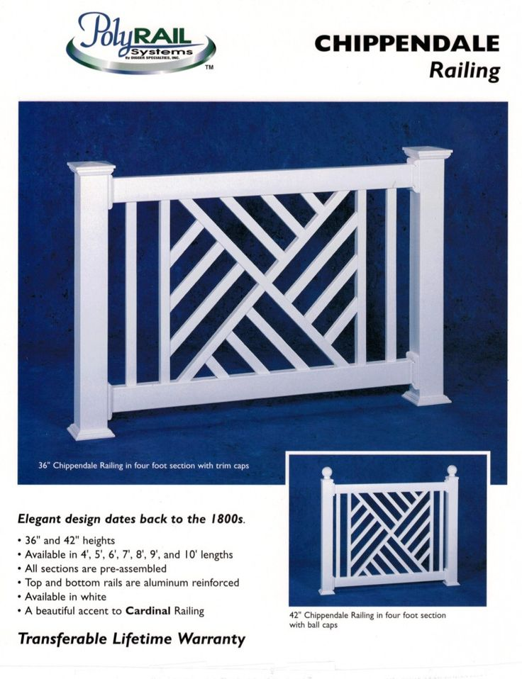 Vinyl railings by Digger Specialties, are reinforced with aluminum are engineered and code compliant. They come in pre-boxed sections for ease of installation. They are ideal for coastal locations,…