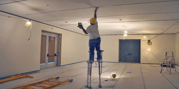 What Pair Of Plasterers Stilts Should I Buy High Walls Work Platforms Light Fittings