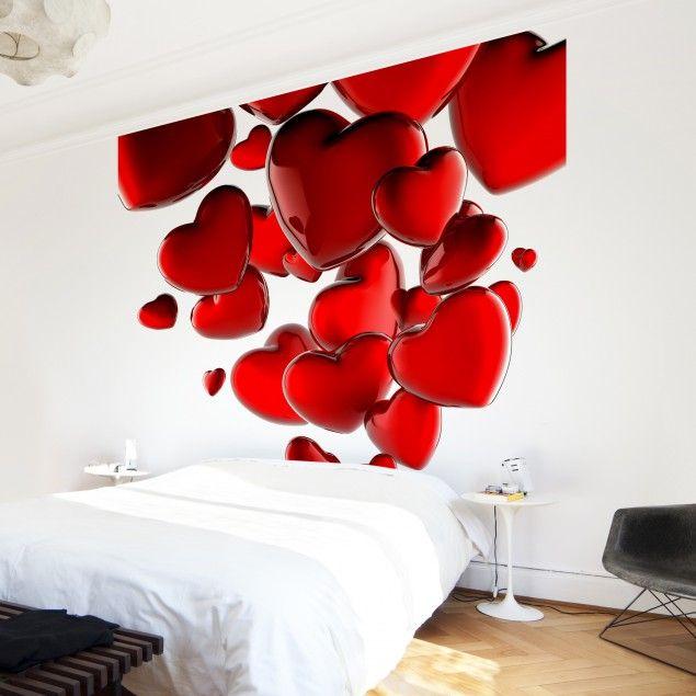 #Vliestapete - #Herzballons - Fototapete Quadrat #Hochzeit #Heirat #heiraten #Liebe #paar #Verliebt #Verlobt #verheiratet #Ehe #Love #Marriage #marryme #verlieben #Herz