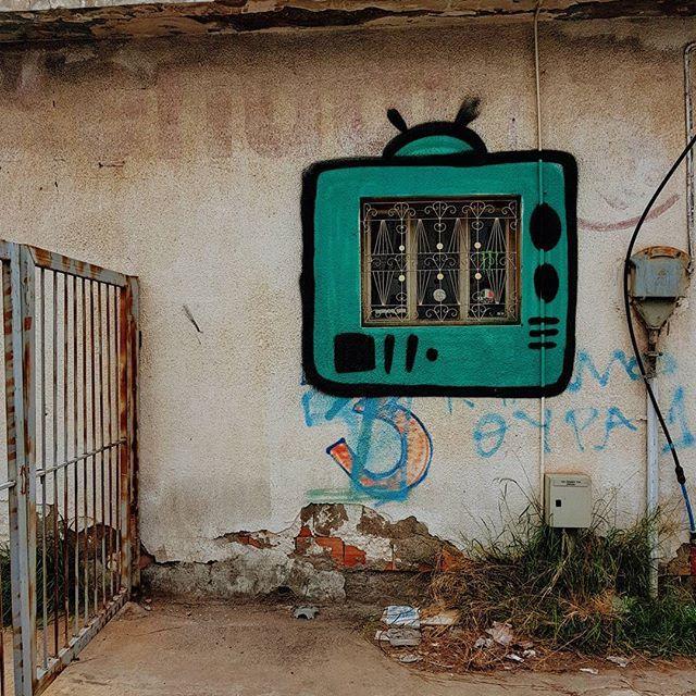 #window #graffiti #limassol #cyprus