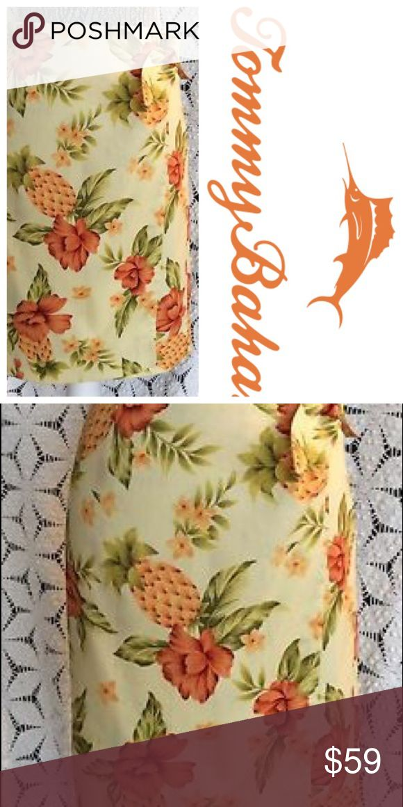 "NWT Tommy Bahama Tropical Tourist Sarong sz 16 Brand: NWT Tommy Bahama   Color:  Yellow & Orange Floral (Lemonade)  Size: 16/XL  Materials: silk & spandex   Style:  Gorgeous Tropical Tourist Sarong/Wrap Skirt. Light yellow with orange floral & pineapple print. Side tie. Perfect for a summer vacation! Tags retail $115 + tax!  Measurements:  Waist: 19"" Hips: 22"" Length: 24""  *Boho Festival Summer  🍍🍍🍍 Bundle & Save with my Other Listings! Tommy Bahama Skirts Midi"