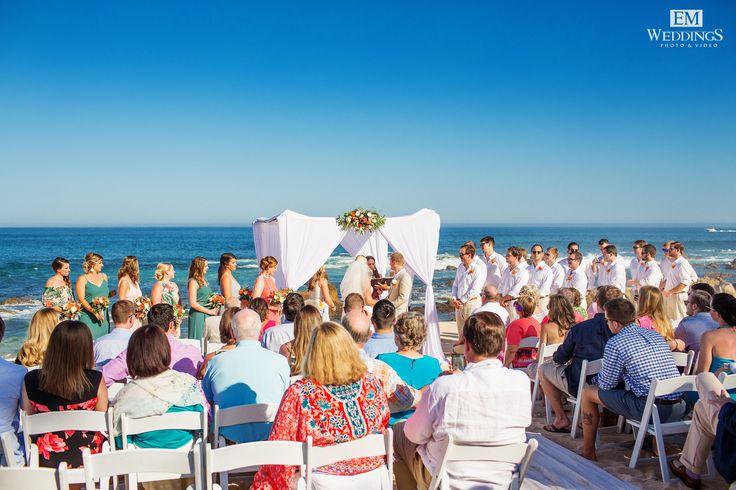 Wedding Ceremony at Grand Fiesta Americana, Los Cabos.    #emweddingsphotography #destinationweddings