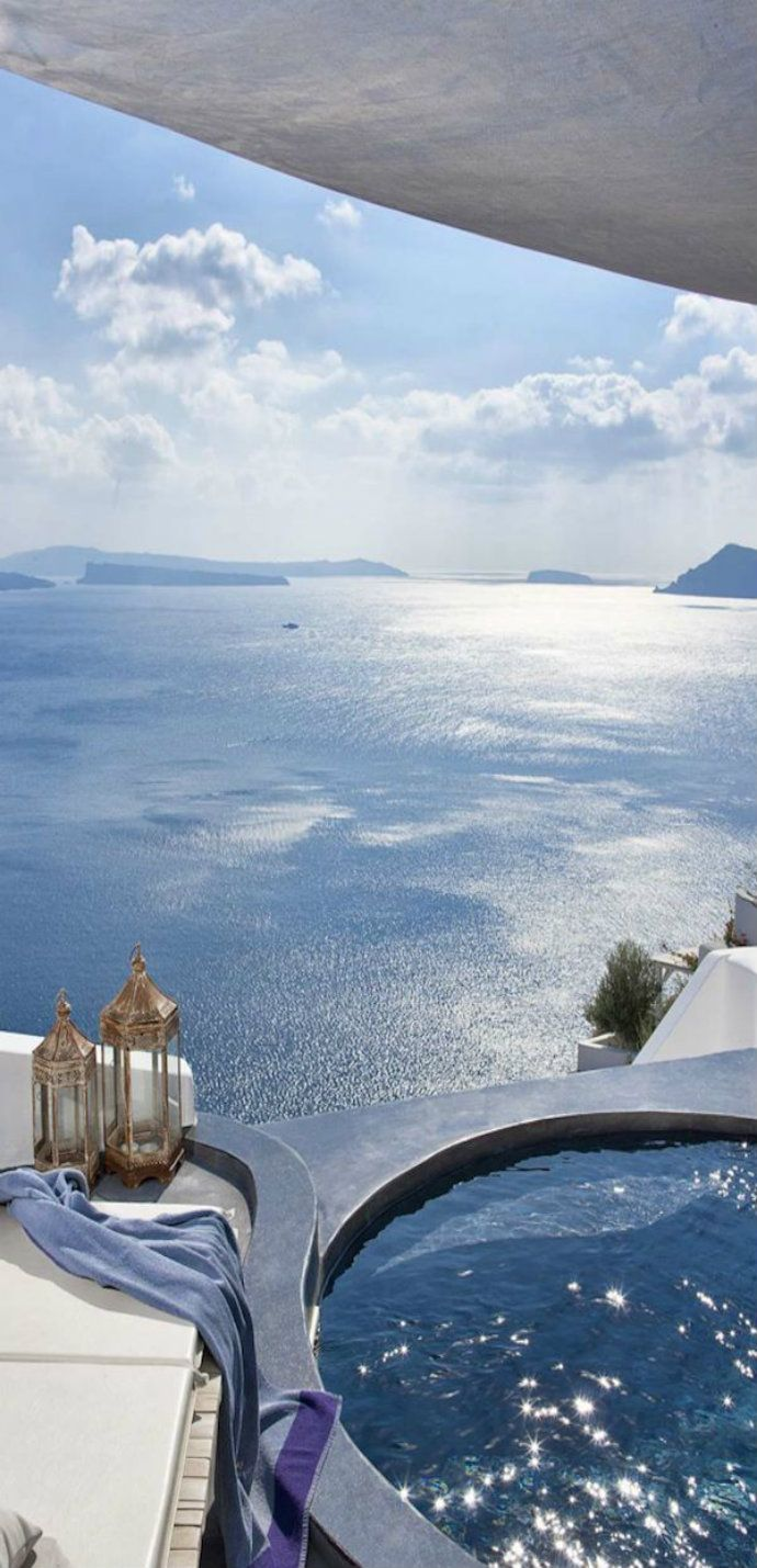 Andronis Luxury Suites -  Santorini, Greece.  Ummm...yeah....that'll work.  -I guess.  Whatevs.  OMG!!!!