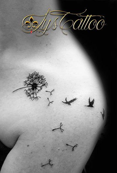 Plus de 25 id es tendance dans la cat gorie tatouages de pissenlit sur pinterest design de - Tatouage oiseau epaule ...