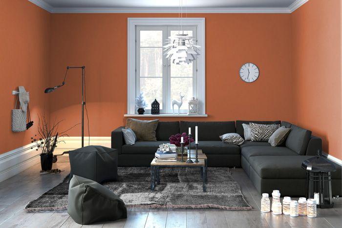 Pareti Salone Color Tortora Con I Migliori Arancioni Per Le