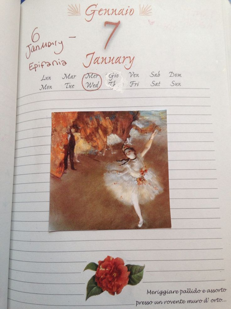 January diary illustrations