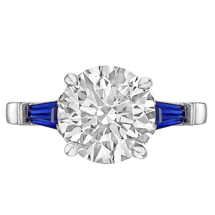 Betteridge 3.19 Carat Round Brilliant Diamond Ring | See more rare vintage Engagement Rings at https://www.1stdibs.com/jewelry/rings/engagement-rings
