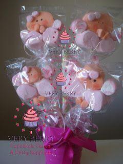 Veryberry Cupcakes: ANGEL MARSHMALLOW POPS CENTER PIECES