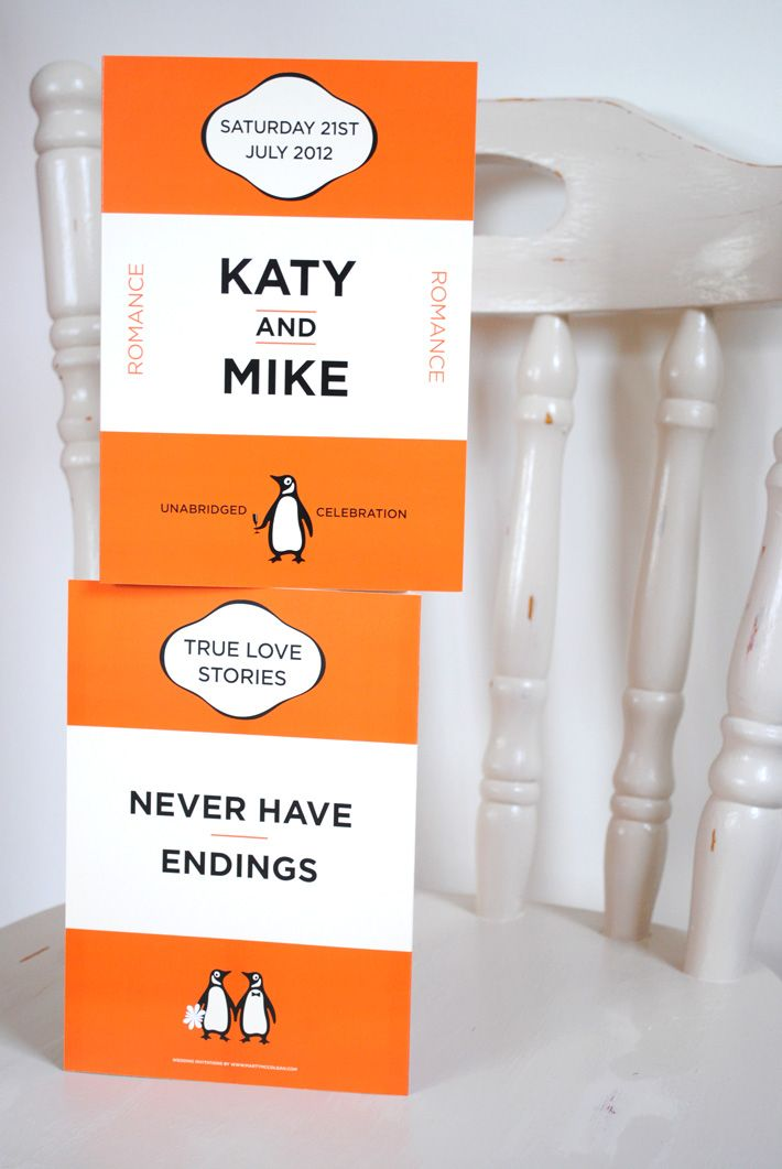 penguin book themed wedding invites @Kate F. S, you know, for the future!