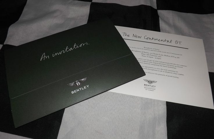 2011 BENTLEY CONTINENTAL GT LAUNCH EXCLUSIVE PREVIEW INVITATION CARD BROCHURE A1
