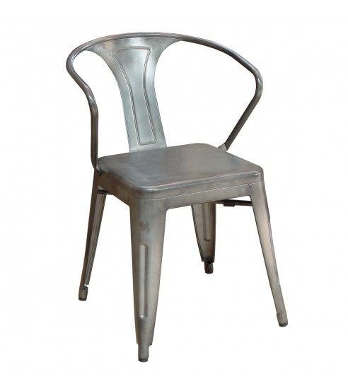 silla replica tolix industrial silver - Tiendas On