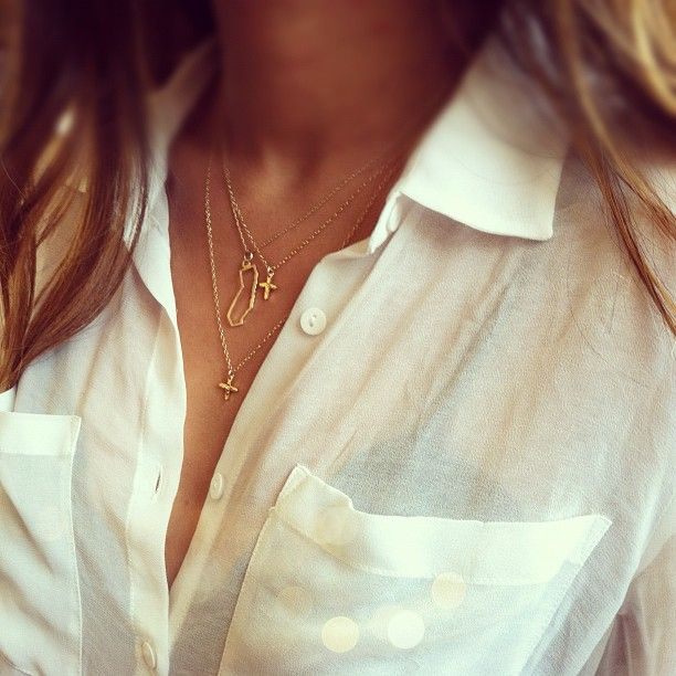 Little gold necklace