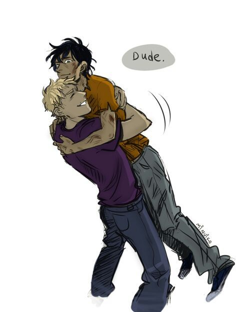 The Percy/Jason bromance doesn't get talked about enough.