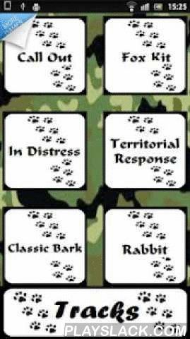 Fox Call - Hunter -  Android App - playslack.com , App fox hunting claim.The fox call completely free!You can use the call wherever hunting is permitted and use. Contains the claim - call for different hunting situations.It also contains tracks - footprints of the animal to give chase.Definition: The fox is an animal that in most continents can hunt them for the damage they do to other animals, usually also hunting the partridge and quail, and crops. You will inform you if your hunting area…
